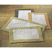 2 pc  contrast border bath mat set