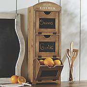wood chalkboard cabinet