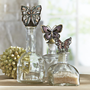 set of 3 butterfly bottles