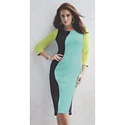 Curvaceous Colorblock Dress