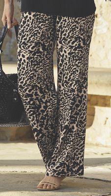 Wide Leg Animal Pant