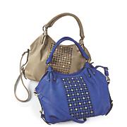 Rhinestone and Stud Hobo Handbag