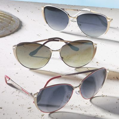 Oversized Rounded Wire Sunglasses