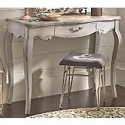 Gray Scalloped Desk