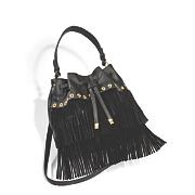 drawstring bucket bag by sondra roberts
