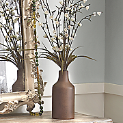 white blossom in vase