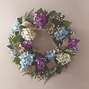 all season hydrangea wreath