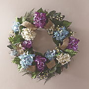 all season hydrangea wreath