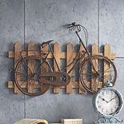 bike and fence 3 d art