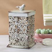 bird filigree container