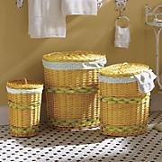 set of 3 oval laundry baskets