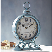 blue table clock
