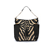 studded animal print hobo bag by steve harvey