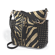 Studded Animal Print Hobo Bag by Steve Harvey