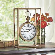 hanging gold clock