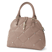 dome satchel with quilting and rhinestones