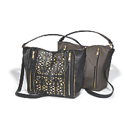 reversible hobo with laser cut front