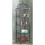 4 tier black shelf