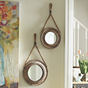 set of 2 round wall mirrors