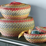 seagrass basket trio