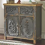 Black Distressed Cabinet