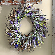 Lavender Heather Spiral Vine Wreath