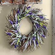 lavender heather spiral vine wreath