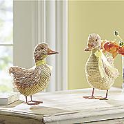 set of 2 grass ducks