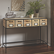 Apothecary 5-Drawer Console Table