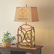 table lamp with bottle holder