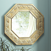 Wooden Octagon Mirror