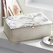 linen jewelry box