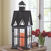 Lantern with Remote Control LED Candle