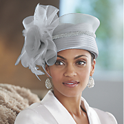 satin braid pillbox hat