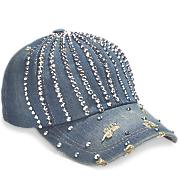 Sparkling Denim Baseball Hat