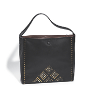 reversible tote with rhinestones and studs