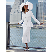 margaux skirt suit and ladara hat