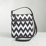 Chevron-Print Cross-Body Bag