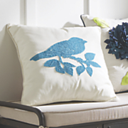 chenille bird pillow
