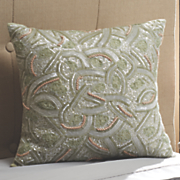 mosaic sequin pillow
