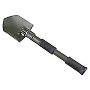 folding shovel with saw and pick