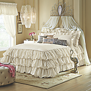 Vienna Skirted Coverlet, Sham and Window Treatments