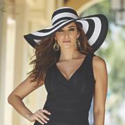 wide brim hat by isaac mizrahi