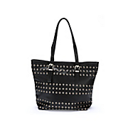 zip top tote with front grommets
