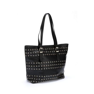 Zip-Top Tote with Front Grommets