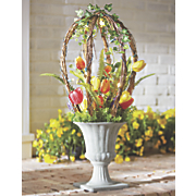 lighted tulip topiary