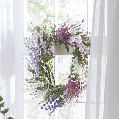 Square Lavender Wreath