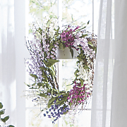 Square Lavender Wreath