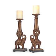 Set of 2 Elephant Candlesticks