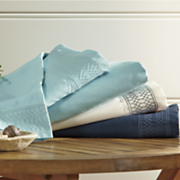 lattice embroidered microfiber sheet sets